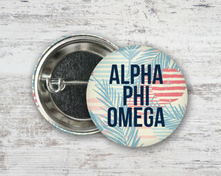 Alpha Phi Omega Paradise Found Button