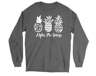 Alpha Phi Omega Pineapple Long Sleeve