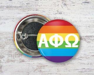 Alpha Phi Omega Pride Button