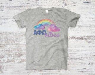 Alpha Phi Omega Rainbow Vibes Tee