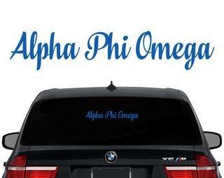 Alpha Phi Omega Script Decal