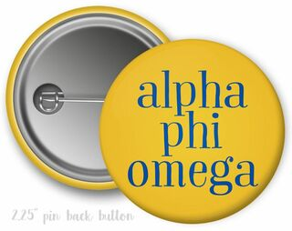 Alpha Phi Omega Simple Text Button