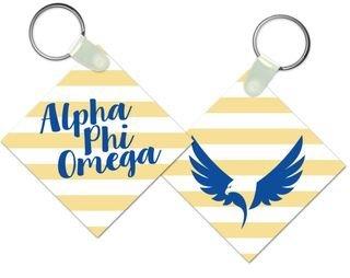 Alpha Phi Omega Striped Mascot Keychain