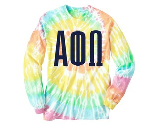 Alpha Phi Omega Tie Dye Long Sleeve