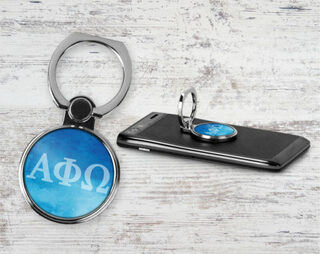 Alpha Phi Omega Water Color Phone Ring