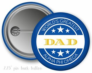 Alpha Phi Omega World's Greatest Dad Button