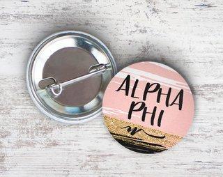 Alpha Phi Rose Gold Button