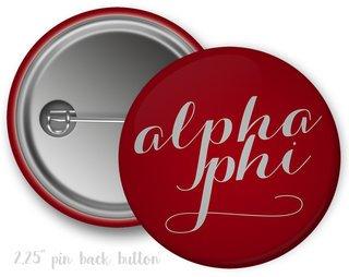 Alpha Phi Script Button