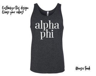 Alpha Phi Simple Tank