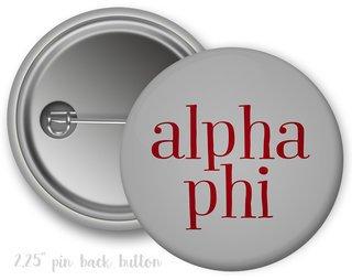 Alpha Phi Simple Text Button