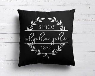 Alpha Phi Since Established Pillow