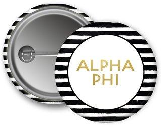 Alpha Phi Striped Button