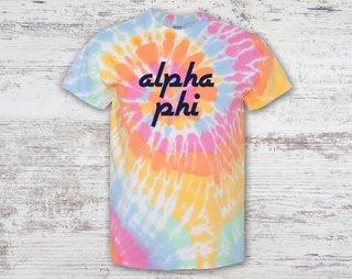 Alpha Phi Tie Dye Tee
