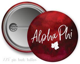 Alpha Phi Watercolor Script Button
