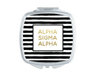 Alpha Sigma Alpha Striped Compact