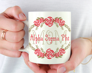 Alpha Sigma Phi Mom Floral Mug