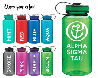 Alpha Sigma Tau Anchor Water Bottle