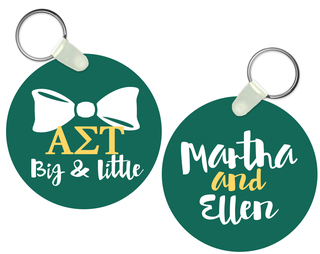 Alpha Sigma Tau Big and Little Keychain