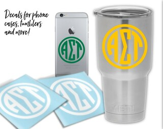 Alpha Sigma Tau Circle Decal
