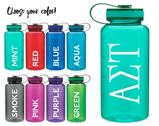 Alpha Sigma Tau Classic Letters Water Bottle