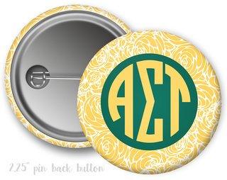 Alpha Sigma Tau Floral Button