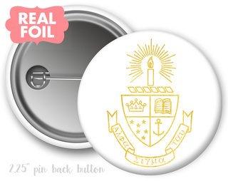Alpha Sigma Tau Foil Crest - Shield Button