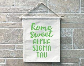Alpha Sigma Tau Home Sweet Home Banner