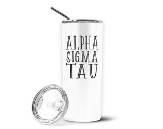 Alpha Sigma Tau Inline Stainless Tumbler