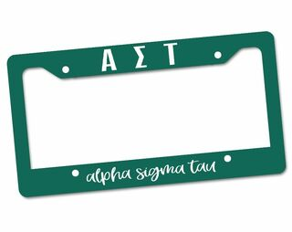 Alpha Sigma Tau Custom License Plate Frame