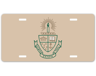 Alpha Sigma Tau Crest - Shield License Plate