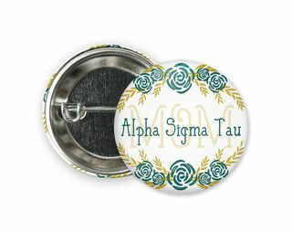 Alpha Sigma Tau Mom Floral Button
