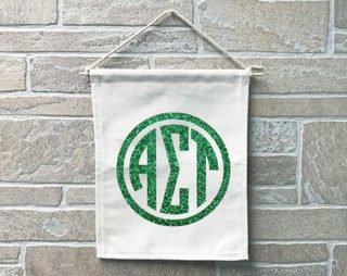 Alpha Sigma Tau Monogram Banner