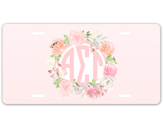 Alpha Sigma Tau Monogram License Plate