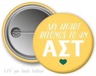 Alpha Sigma Tau My Heart Belongs to a Button