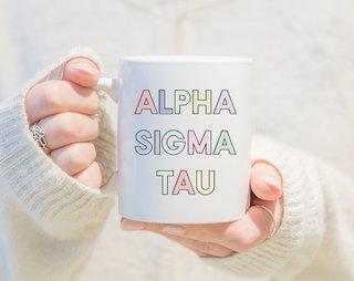 Alpha Sigma Tau Pastel Mug