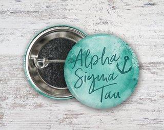 Alpha Sigma Tau Watercolor Button