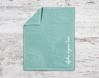 Alpha Sigma Tau Script Blanket
