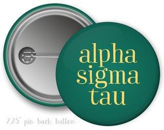 Alpha Sigma Tau Simple Text Button