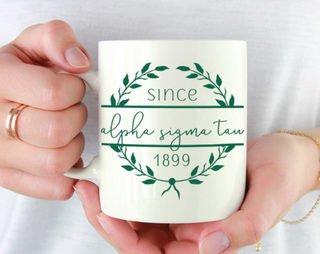 Alpha Sigma Tau Since Established Coffee Mug