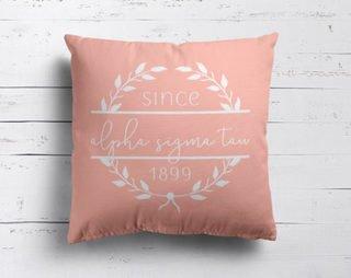 Alpha Sigma Tau Since Established Pillow