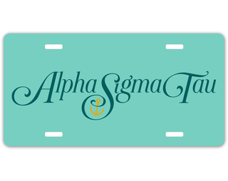 Alpha Sigma Tau Sorority Logo License Cover