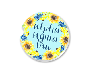 Alpha Sigma Tau Sunflower Car Coaster