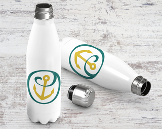 Alpha Sigma Tau Logo Stainless Steel Water Bottle