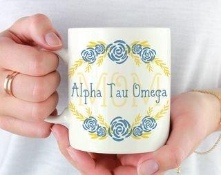 Alpha Tau Omega Mom Floral Mug