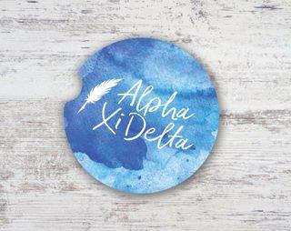 Alpha Xi Delta Sandstone Car Cup Holder Coaster