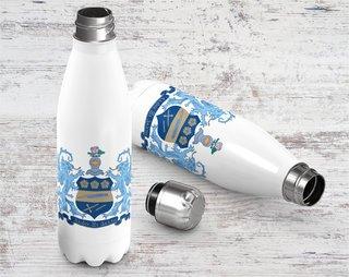 Alpha Xi Delta Crest - Shield Stainless Steel Water Bottle