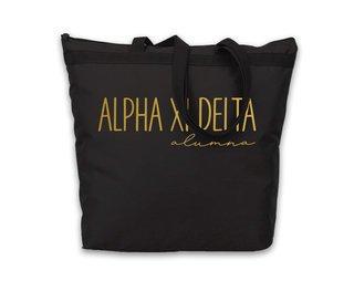 Alpha Xi Delta Gold Foil Alumna Tote