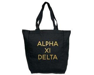 Alpha Xi Delta Gold Foil Tote bag
