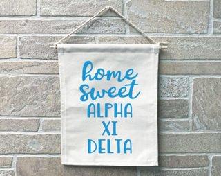 Alpha Xi Delta Home Sweet Home Banner