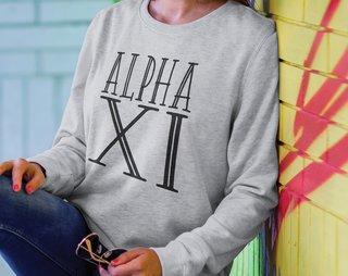 Alpha Xi Delta Inline Sweatshirt